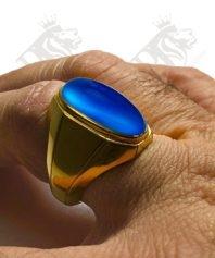 انگشتر-عقیق-آبی