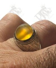 انگشتر-عقیق-زرد-یمنی
