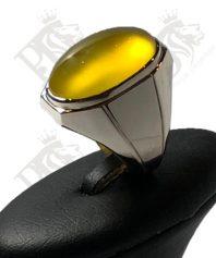 A-138 انگشتر عقیق زرد طبیعی