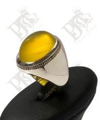 انگشتر-عقیق-زرد