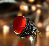 انگشتر عقیق سرخ یمنی کهنهA-1162