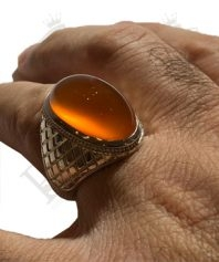 انگشتر-عقیق-پرتقالی