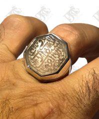 انگشتر كلكسيوني نقره با نگين بارفتن