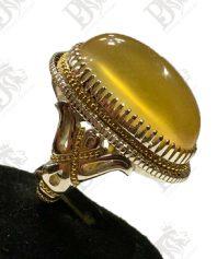 A-1075 انگشتر عقیق زرد یمنی لامپی