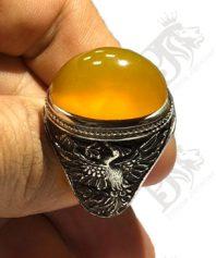 A-1090 انگشتر عقیق زرد یمنی