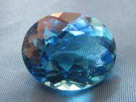 سنگ طبیعی بلو توپاز بسیار خوشرنگ   Topaz-1