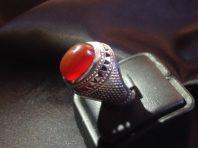 انگشتر دست ساز فدیم با نگین عقیق سرخ – A-38