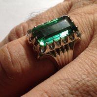 انگشتر با نگین ترمالین سبز   T-5