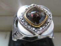 انگشتر فاخر نگین الماس دور بلریان          D-4
