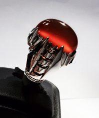 انگشتر دست ساز فدیوم با نگین عقیق سرخ یمنی استثنایی و بی نظیر A-272 فروخته شد.