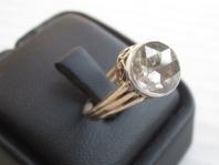 انگشتر زنانه طلا با سنگ الماس     D-2