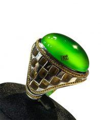 عقيق سبز يمني كهنه با طبع و رنگ نادر و خاص