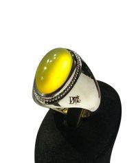 عقيق زرد طبيعي بينهايت ابدار و لامپي