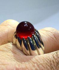 A-723 انگشتر عقیق سرخ چنگی