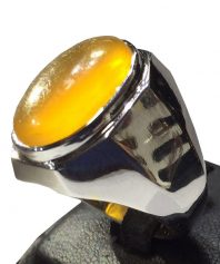 A-741 انگشتر عقیق زرد تراشدار