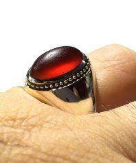 A-858 انگشتر بی نظیر استاد حاج حسین جدی با عقیق سرخ