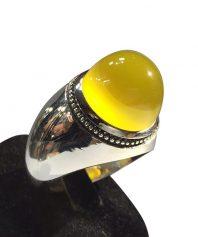 انگشتر عقيق زرد صد در صد طبيعي