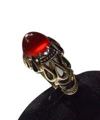 انگشتر عقيق سرخ يمني اشکی