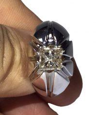 AL-2 انگشتر الماس سفید بسیار پاک