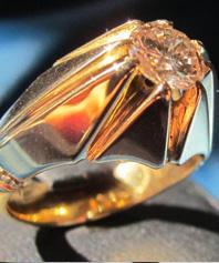 انگشتر الماس با رکاب دست ساز طلا     D-5
