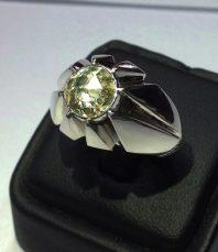 انگشتر الماس بی نظیر و پرتلالو با رکاب هشت چنگ سفارشی AL-1