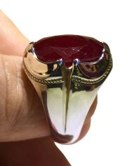 انگشتر یاقوت سرخ آفریقایی 20 قیراطی